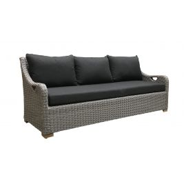 Randwick 3 Seater Outdoor Wicker Lounge in Brushed Grey