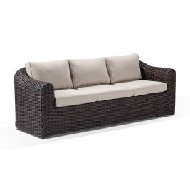 Subiaco 3 Seater Outdoor Wicker Lounge